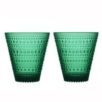 iittalaKastehelmi glass 30 cl 2-pakk smaragdgrønn