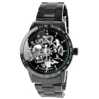 IK ColouringZwart & Zilveren Rolat Horloge