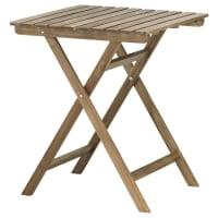 IKEAASKHOLMEN, Tisch/außen, faltbar graubraun graubraun lasiert