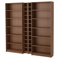 IKEABILLY / GNEDBY, Bücherregal, braun Eschenfurnier, braun