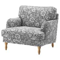 IKEASTOCKSUND, Bezug Sessel, Hovsten grau/weiß, grau/weiß