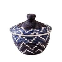 Indego AfricaMini Lidded Basket Blue