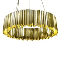 InnermostFacet Pendant - Polished Brass