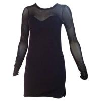 Isabel MarantAglaee Sheer-paneled Wool Blend Mini Dress (38)