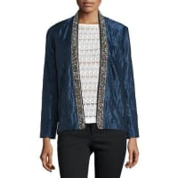 Isabel MarantBead-Embellished Quilted Cotton/Silk Jacket, Midnight