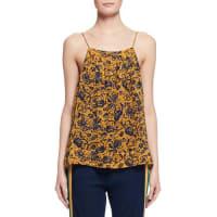 Isabel MarantBronson Floral Silk Camisole, Yellow