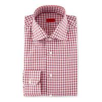 IsaiaBox-Check Dress Shirt, Red/Navy