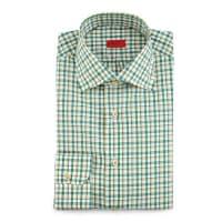 IsaiaBox-Check Woven Dress Shirt, Soft Green