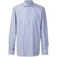 Isaiacasual checked shirt, Mens, Size: 16 1/2, Blue, Cotton