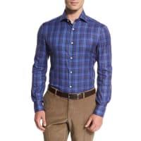IsaiaMadras Check Sport Shirt, Blue