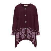 Isolde RothPlus Size Floral jacquard cardigan