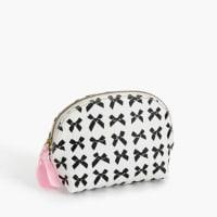 J.crewBow-print coated canvas makeup pouch