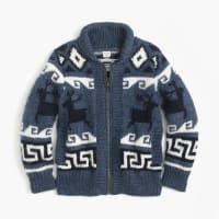 J.crewBoys wool shawl zip cardigan sweater