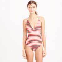 J.crewBraided deep-V one-piece swimsuit in classic stripe