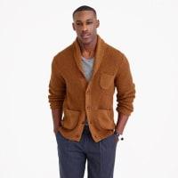 J.crewCotton textured-stitch cardigan sweater