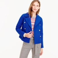 J.crewCropped double-breasted peacoat