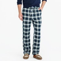 J.crewFlannel pajama pant in green plaid
