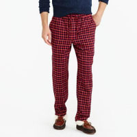 J.crewFlannel pajama pant in navy tattersall