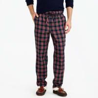 J.crewFlannel pajama pant in red and black tartan