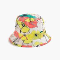 J.crewGirls bucket hat in punchy hibiscus