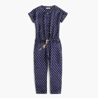 J.crewGirls polka-dot drapey jumpsuit