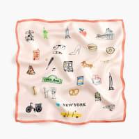 J.crewItalian silk square scarf in New York print