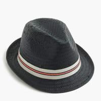 J.crewKids straw trilby hat