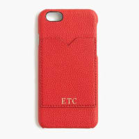 J.crewLeather case for iPhone 6 with pocket
