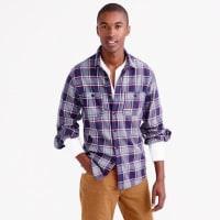 J.crewSlim midweight flannel shirt in classic navy plaid