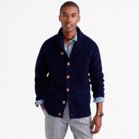J.crewShawl-collar cardigan in Donegal wool