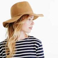 J.crewWide-brimmed Italian wool-felt hat