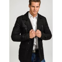 J.StyleBolf Herren Mantel Schwarz 3143