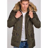 J.StyleBolf Herren Winterjacke Khaki 3150