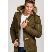 J.StyleBolf Herren Winterjacke Khaki 507