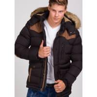 J.StyleBolf Herren Winterjacke Schwarz 3079