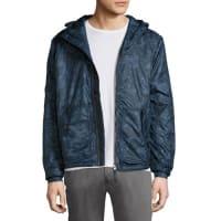 Jachs NYPrinted Hooded Anorak Jacket, Navy