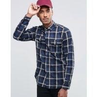 Jack & JonesKarohemd mit zwei Taschen - Marineblau