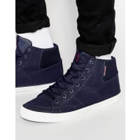 Jack & JonesDeeside Hi-Top Trainers - Navy