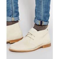 Jack & JonesGobi - Chukka-Stiefel aus Wildleder - Weiß