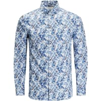 Jack & JonesLangarmhemd blau / weiß