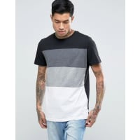 Jack & JonesLongline Cut and Sew T-Shirt - Black