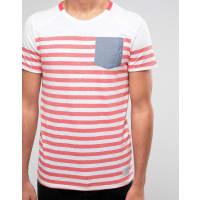 Jack & JonesStriped Pocket T-Shirt - Red