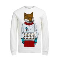 Jack & JonesWeihnachts-Sweatshirt weiß