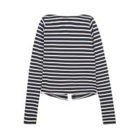 JacquemusLa Marinière Open-back Striped Cotton-jersey Top - Navy