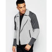 Jaded LondonBiker Jacket In Neoprene - Grey