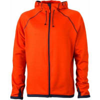 James & NicholsonJames & Nicholson Fleecejacke Mens Hooded - Blouson Homme, Orange (dark-orange/carbon) - Small (Taille fabricant: Small)
