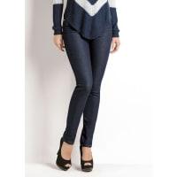 JanineCalca Skinny Cintura Alta Jeans Escuro