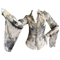 Jean Paul GaultierFemme Vintage Silk Bell Sleeve Blouse With Dragon Motif
