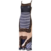 Jean Paul GaultierMesh Printed A-line Dress With Straps