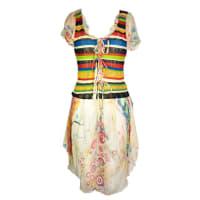 Jean Paul GaultierMulti-color Knit And Silk Pleasant Dress